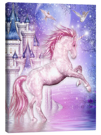 Quadro em tela  Pink Magic Unicorn - Dolphins DreamDesign