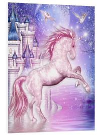 Quadro em PVC  Pink Magic Unicorn - Dolphins DreamDesign