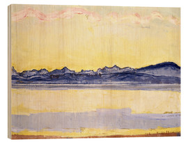 Quadro de madeira  Mont Blanc with red clouds - Ferdinand Hodler