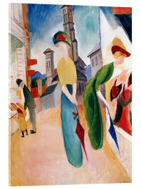 Quadro em acrílico  In front of hat shop - August Macke