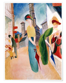 Póster Premium  In front of hat shop - August Macke