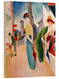 Quadro de madeira  In front of hat shop - August Macke