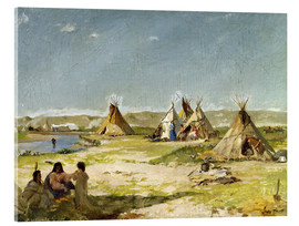 Quadro em acrílico  Camp of the Indians in Wyoming - Frank Buchser
