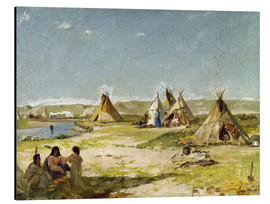 Quadro em alumínio  Camp of the Indians in Wyoming - Frank Buchser