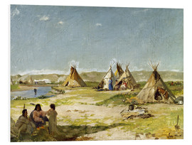 Quadro em PVC  Camp of the Indians in Wyoming - Frank Buchser