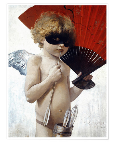 Póster Premium Cupid at the masked ball