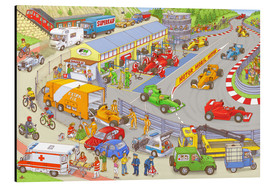 Quadro em alumínio  Cars search and find picture: race track - Stefan Seidel