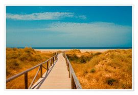 Póster Premium  way to the beach - Tarifa (Andalusia), Spain - gn fotografie