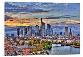 Quadro em acrílico  Frankfurt skyline in the evening light - HDR - HADYPHOTO