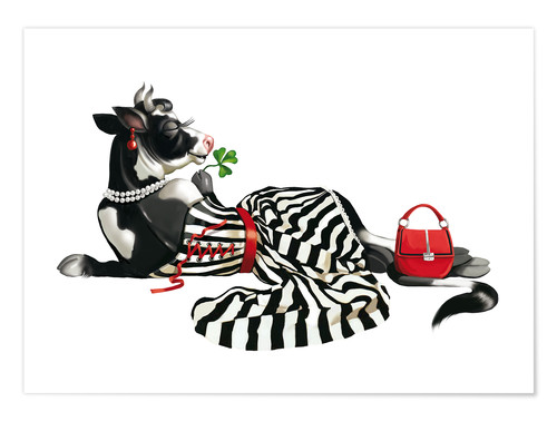 Póster Premium glamour cow 2