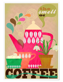 Póster Premium The smell of coffee