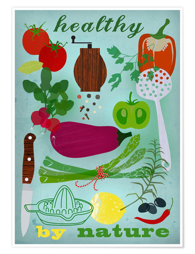 Póster Premium Healthy by nature I
