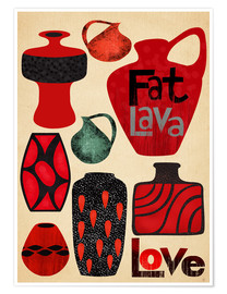 Póster Premium Fat Lava Love