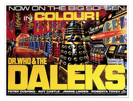 Póster Premium  DR. WHO AND THE DALEKS