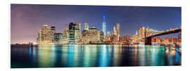 Quadro em PVC  New York City Skyline, panoramic view - Sascha Kilmer