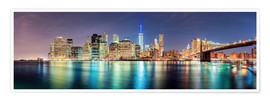 Póster Premium  New York City Skyline, panoramic view - Sascha Kilmer