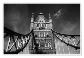 Póster Premium  London Tower Bridge monochrome - Filtergrafia