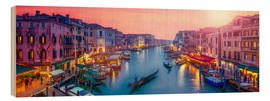 Quadro de madeira  Venice panorama at sunset - Jan Christopher Becke