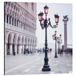 Quadro em alumínio  St. Mark's Square in Venice in Winter - Jan Christopher Becke