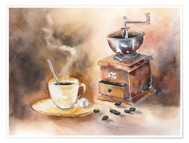Póster Premium  The smell of coffee - Jitka Krause