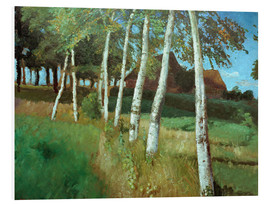 Quadro em PVC  Birches in the marsh - Otto Modersohn