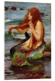 Quadro em acrílico  A Mermaid - John William Waterhouse