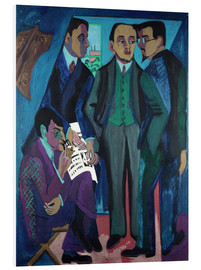 Quadro em PVC  Group of Artists - Ernst Ludwig Kirchner
