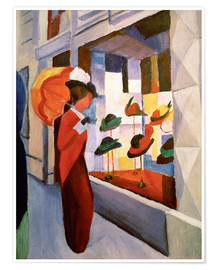 Póster Premium  Hat Shop - August Macke