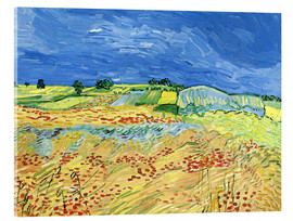 Quadro em acrílico  Fields with Blooming Poppies - Vincent van Gogh
