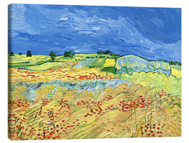 Quadro em tela  Fields with Blooming Poppies - Vincent van Gogh