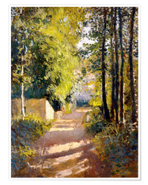 Póster Premium  Path under trees - Gustave Caillebotte