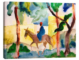 Quadro em tela  Man Riding on a Donkey - August Macke