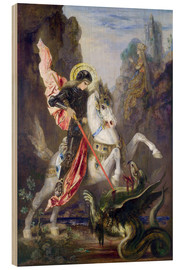 Quadro de madeira  St. George and the Dragon - Gustave Moreau