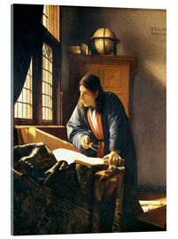 Quadro em acrílico  A geographer or astronomer in his study - Jan Vermeer
