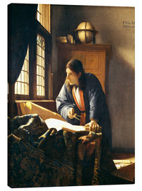 Quadro em tela  A geographer or astronomer in his study - Jan Vermeer