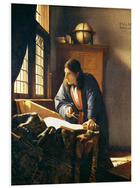 Quadro em PVC  A geographer or astronomer in his study - Jan Vermeer