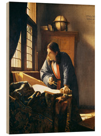 Quadro de madeira  A geographer or astronomer in his study - Jan Vermeer