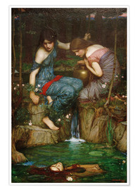 Póster Premium Nymphs Finding the Head of Orpheus