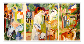 Póster Premium  The Zoo - August Macke