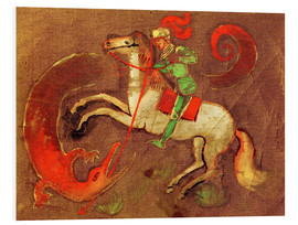 Quadro em PVC  Knight George and dragon - August Macke