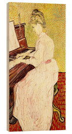 Quadro de madeira  Marguerite Gachet at the piano - Vincent van Gogh