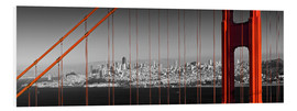 Quadro em PVC  Golden Gate Bridge Panoramic - Melanie Viola