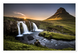 Póster Premium  Fair Tyle Countryside in Iceland - Andreas Wonisch