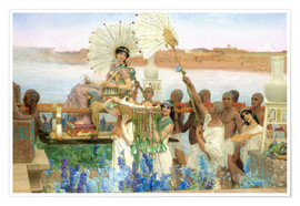 Póster Premium  The Finding of Moses by Pharaoh's Daughter - Lawrence Alma-Tadema