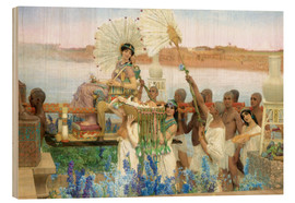 Quadro de madeira  The Finding of Moses by Pharaoh's Daughter - Lawrence Alma-Tadema