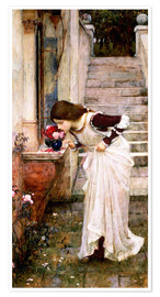 Póster Premium  The Shrine - John William Waterhouse