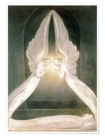 Póster Premium  Christ in the Sepulchre, Guarded by Angels - William Blake