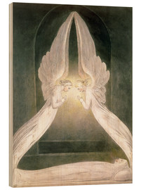 Quadro de madeira  Christ in the Sepulchre, Guarded by Angels - William Blake