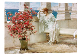 Quadro em acrílico  Her eyes are with her thoughts and they are far away - Lawrence Alma-Tadema