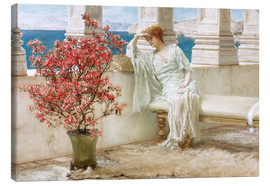 Quadro em tela  Her eyes are with her thoughts and they are far away - Lawrence Alma-Tadema